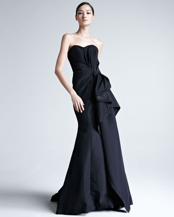Carolina Herrera Faille Strapless Gown - Lyst