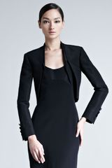 Carolina Herrera Silk Faille Bolero Jacket - Lyst