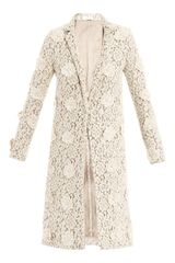 Chloé Floral Embroidered Lace Coat - Lyst