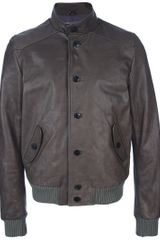 Dacute Leather Army Jacket - Lyst