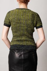 Erdem Judith Waffleknit Sweater in Yellow (navy) - Lyst
