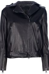 MSP Leather Biker Jacket - Lyst