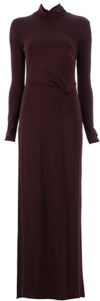 Neil Barrett Side Slit Maxi Dress - Lyst