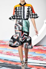 Peter Pilotto Gio Mint Laurena Skirt in Gray (gio mint) - Lyst