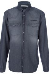 Pierre Balmain Denim Shirt - Lyst