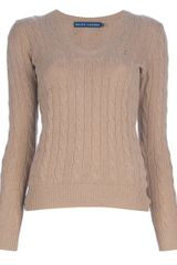 Ralph Lauren Blue Label Cable Knit Jumper - Lyst