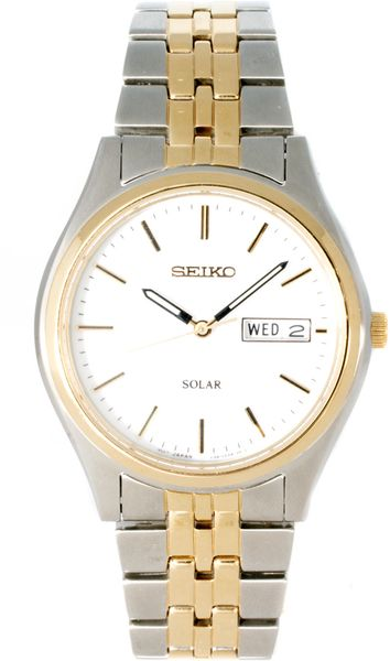 Seiko Solar Gents Bracelet Watch Sne032p1 in Silver for Men (gold)