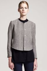 Theory Herringbone Jacket - Lyst