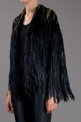 Tim Ryan Fringe Cape in Black - Lyst