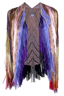 Tim Ryan Fringe Sequin Cape - Lyst