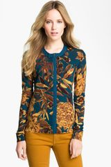 Tory Burch Bonnie Cardigan in Gold (twilight garnet) - Lyst