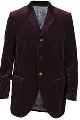 Undercover Velvet Blazer in Red for Men (bordeaux) - Lyst