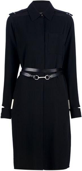 Victoria Beckham Belted Coat in Black