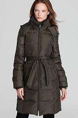Ellen Tracy Belted Down Coat - Lyst