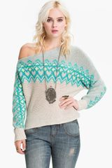 Free People Off Shoulder Ski Sweater - Lyst