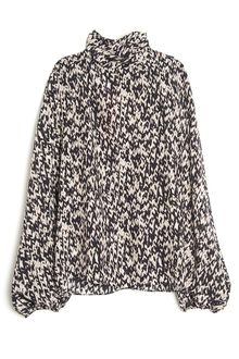 Giambattista Valli Knit Print Turtleneck Top - Lyst