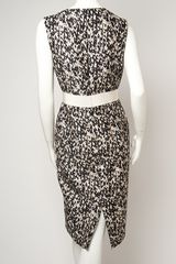 Giambattista Valli Knit Print Sleeveless Dress in White - Lyst