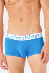 Calvin Klein Steel Microfiber Low Rise Trunks - Lyst