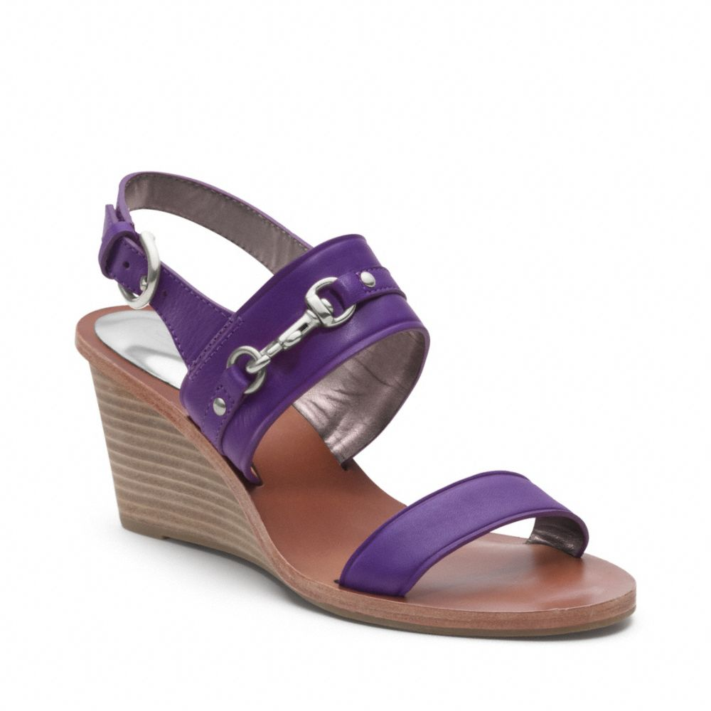 6803bc85701bc Lyst - COACH Pam Wedge in Purple