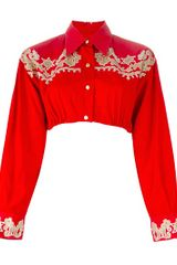Jean Paul Gaultier Cropped Blouse - Lyst