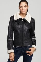 Marc New York Curly Faux Lamb Shearling Jacket - Lyst
