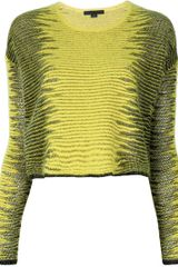 Alexander Wang Frayed Long Sleeve Sweater - Lyst