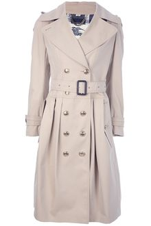 Burberry Double Breasted Trench Coat - Lyst