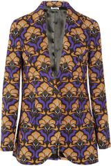 Miu Miu Printed Mohair and Woolblend Jacket - Lyst