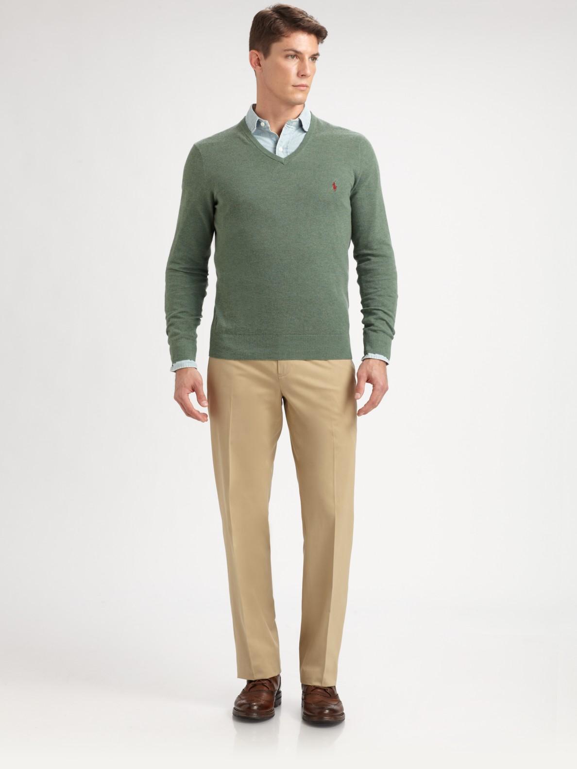 ... Ralph Lauren Polo V Neck Men Mesh Sweaters Dark Grey ...