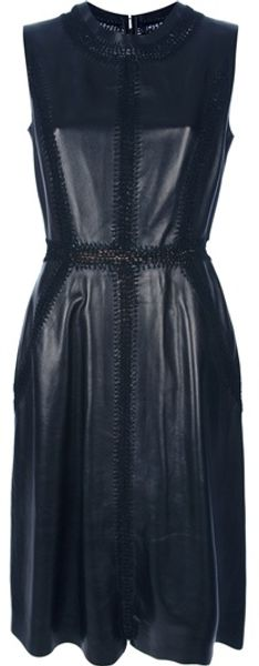 Valentino Sleeveless Dress in Black - Lyst