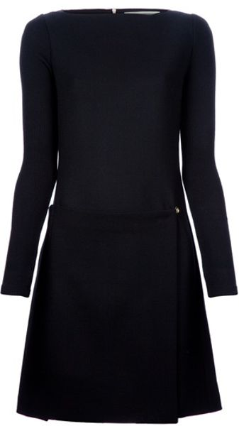 Victoria Beckham Rear Zip Dress in Black - Lyst