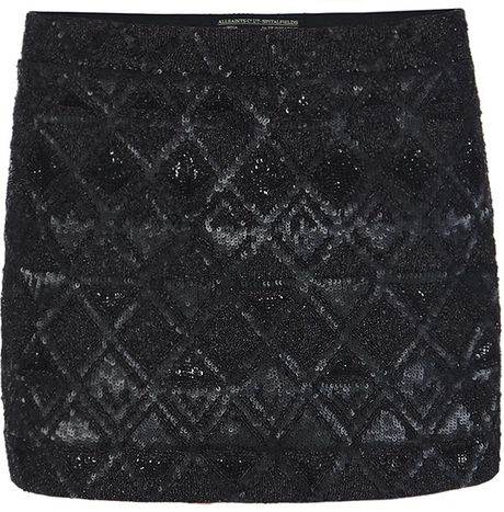 Allsaints Fibonacci Skirt in Black - Lyst