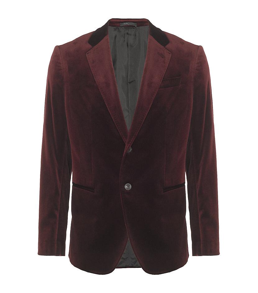 Armani Velvet Jacket in Red for Men | Lyst Giorgio Armani Jacket