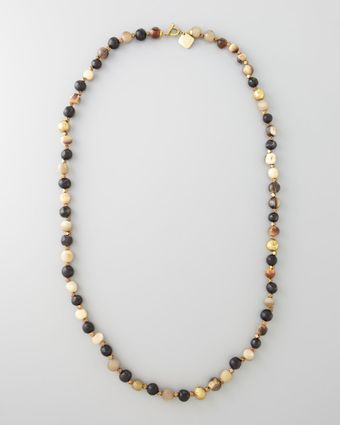 Ashley Pittman Haba Horn Bead Necklace 38l - Lyst