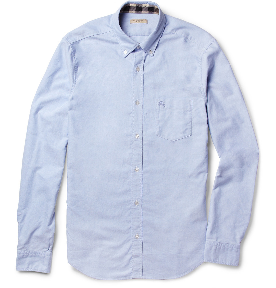 Burberry Brit Button Down Collar Cotton Oxford Shirt In