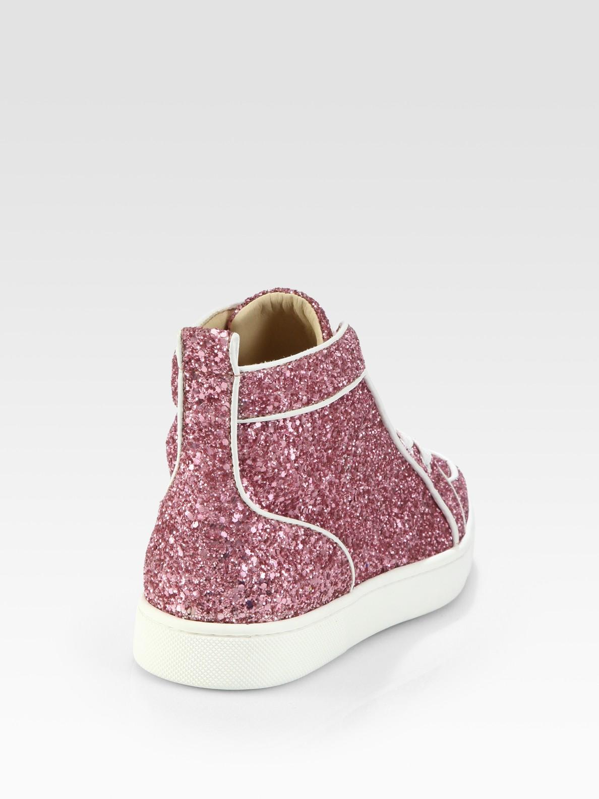 cd7c3f0ffc2 ... ireland lyst christian louboutin rantus orlato glitter sneakers in pink  374bf 9c9ac