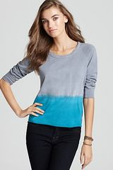 James Perse Sweater Raw Edge Dip Dye - Lyst