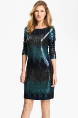 Karen Kane Sequin Sheath Dress - Lyst
