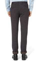 Missoni Slimfit Knitted Woolblend Herringbone Trousers in Gray for Men - Lyst