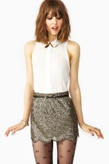 Nasty Gal Scalloped Sequin Skirt - Lyst