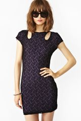 Nasty Gal Sculpture Lace Dress - Lyst