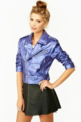 Nasty Gal Moondust Moto Jacket in Purple - Lyst