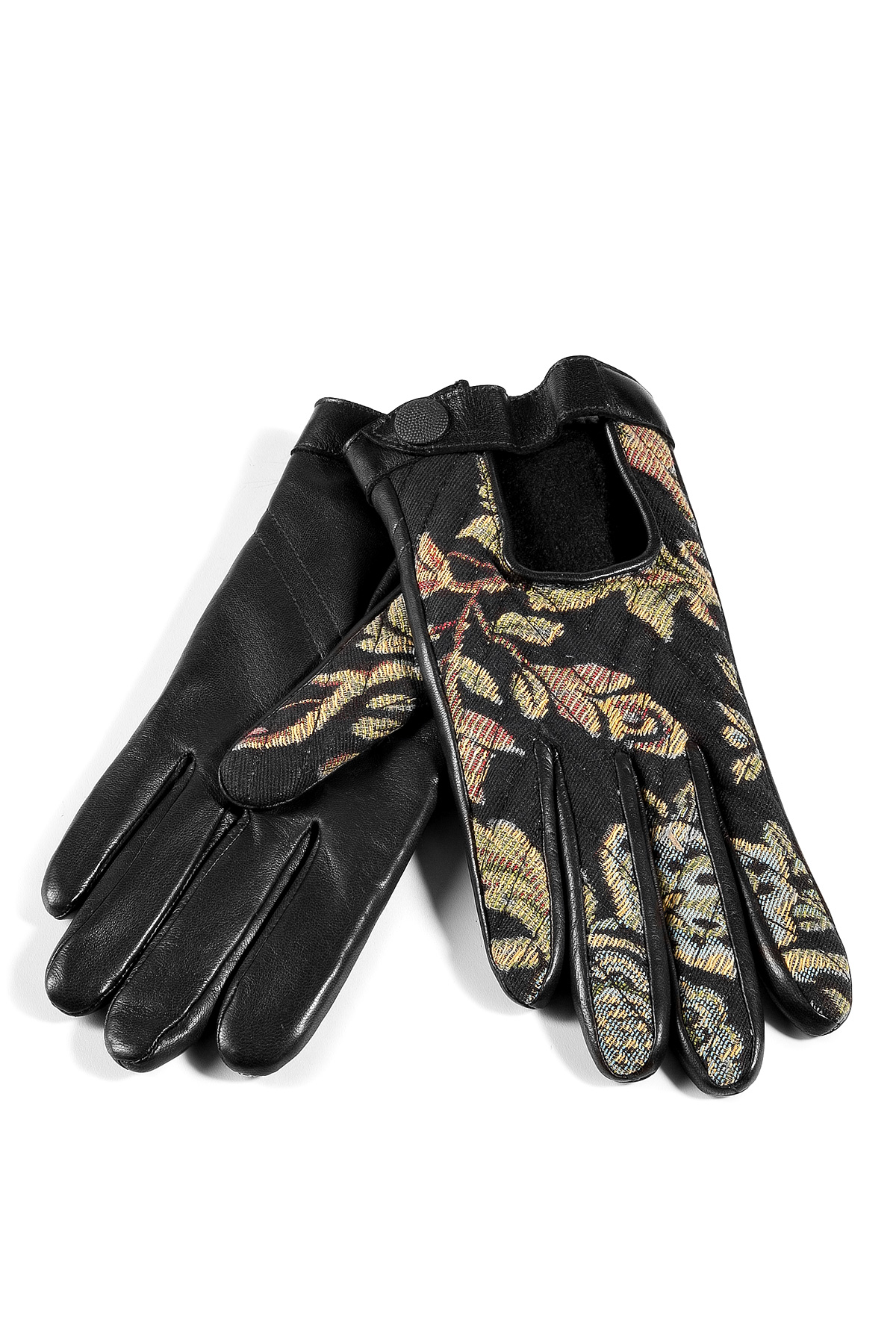 Quilted leather driving gloves - Gallery