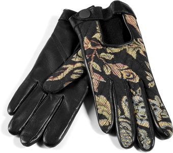 Rag & Bone Black Chevron Quilted Driving Gloves - Lyst