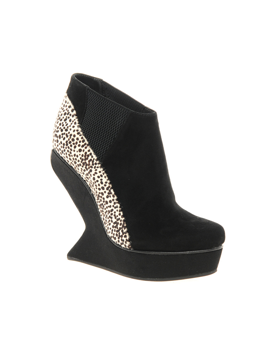senso exclusive vanetta platform wedge ankle boots in