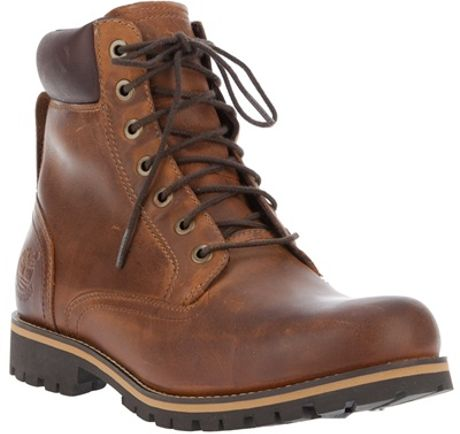 Timberland Rugged Leather Boot in Brown for Men (tan)   Lyst