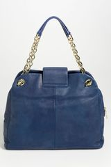 Tory Burch Megan Satchel in Blue (parisian blue) - Lyst