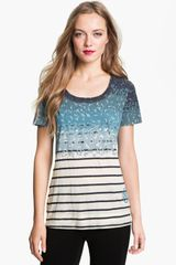 Tory Burch Amelia Tee in Blue (timberwolf dunraven) - Lyst