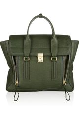 3.1 Phillip Lim Pashli Sharkeffect Leather Tote - Lyst