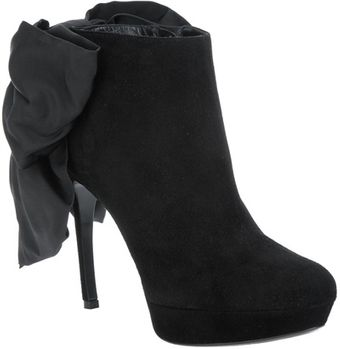 Alexander McQueen Rear Bow Ankle Boot - Lyst
